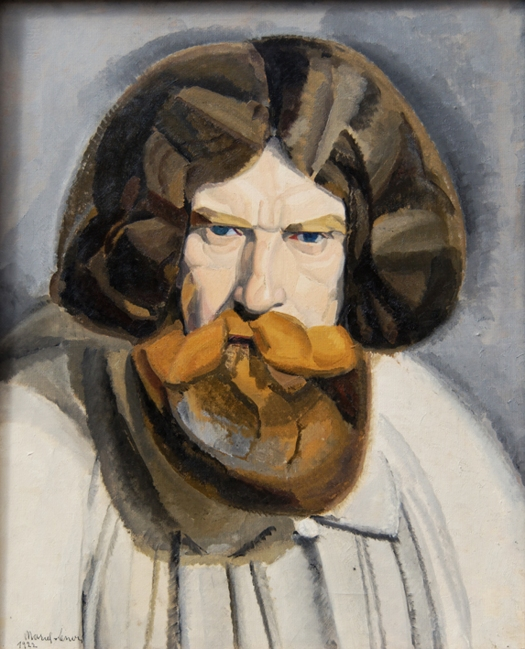 Marcel-Lenoir Autoportrait (Marcel-Lenoir en blouse de fresquiste), huile sur toile, 1922, collection particulière