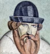 portrait de l'auteur, fresque 1921