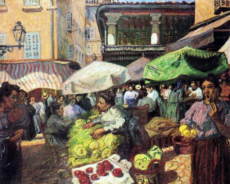 markt in marseile 1903