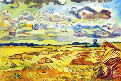Louis-Valtat-xx-Summer-Landscape-at-Arromanches-1910