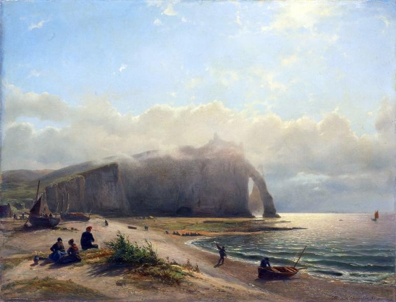 Zeegezicht aan de kust