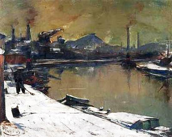 Pierre Paulus - La Sambre en hiver 1940