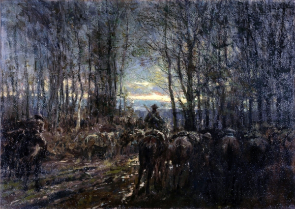 Alfred Bastien - Canadian Cavalry Ready in a wood