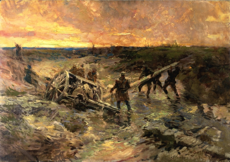 Alfred Bastien - Canadian Gunners in the Mud