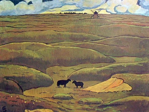 Georges Lacombe 1 - Landschap in Bretagne
