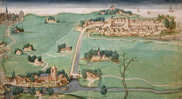 kaart met Delfshaven, Overschie en Schiebroek, 1512