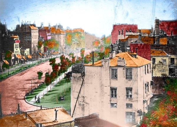 002 - Daguerre Boulevard du Temple 1839 kleur