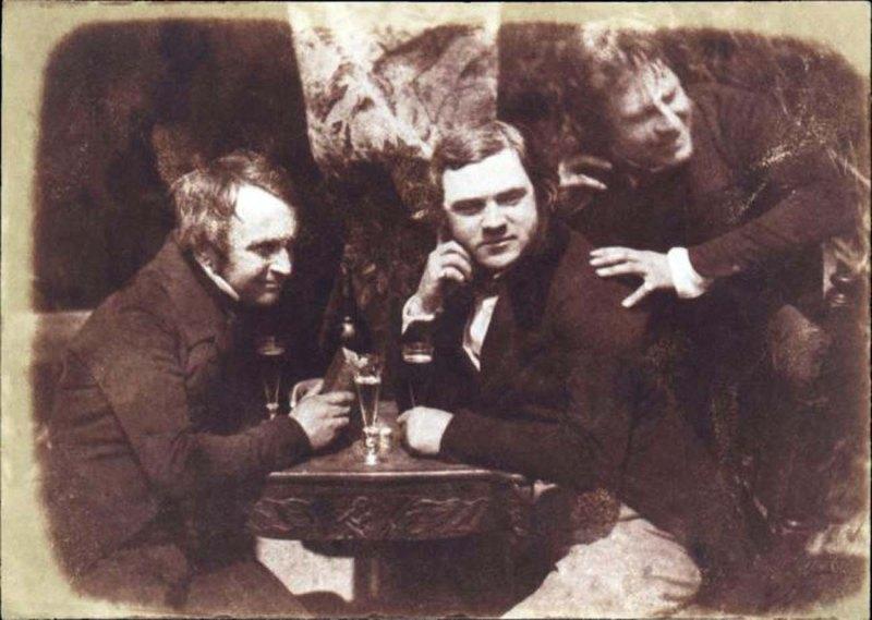 006 - Salt-print van drie man die ale drinken 1844