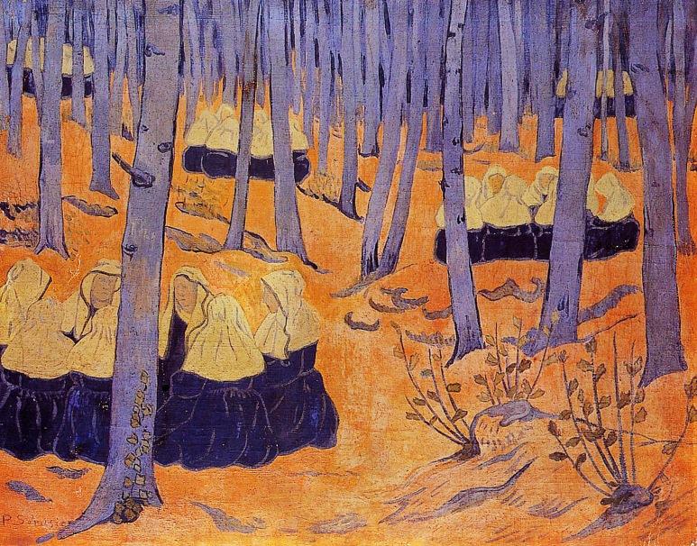 4 - 1892 - Serusier - Femmes de bretagne dans le foret sacré
