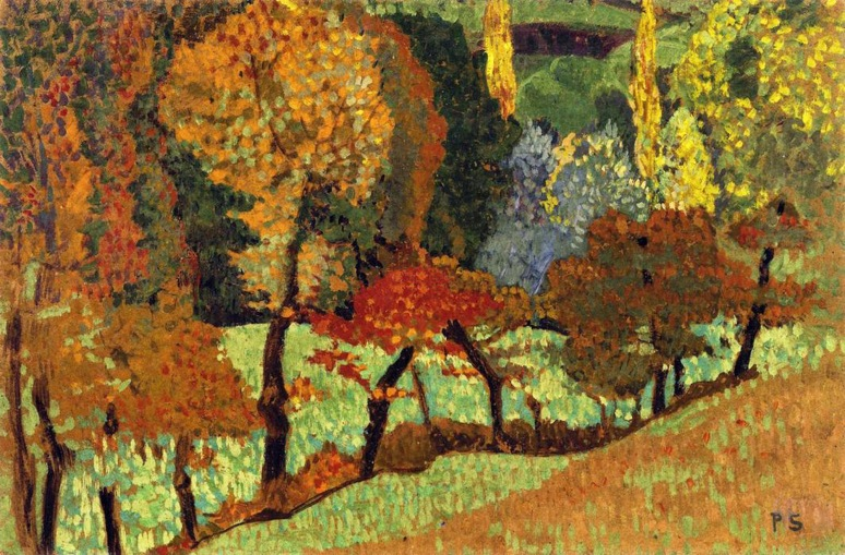 6 - 1899 - Serusier - Trees along a Creek