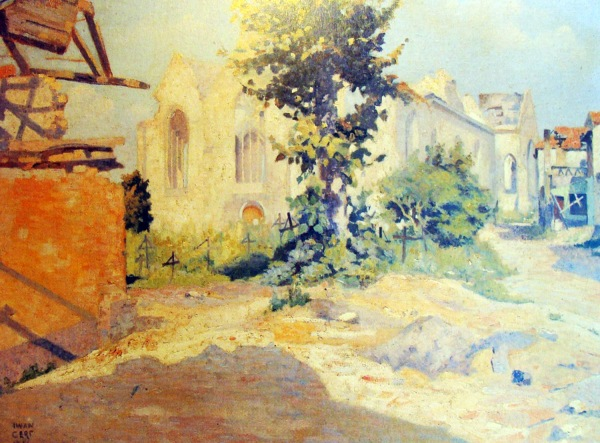 Iwan Cerf - Eglise de Loo, 1916
