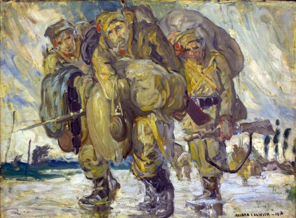 Fernand Allard l'Olivier - Le cantonnement inonde 1918