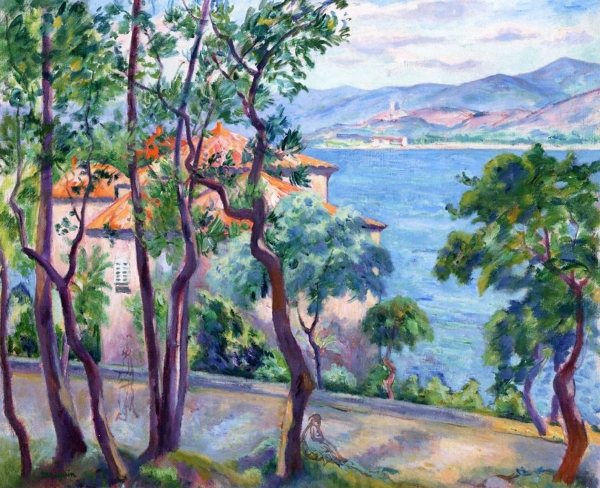 03 - Henri manguin - Above the Oustaleiew over Grimand, 1920
