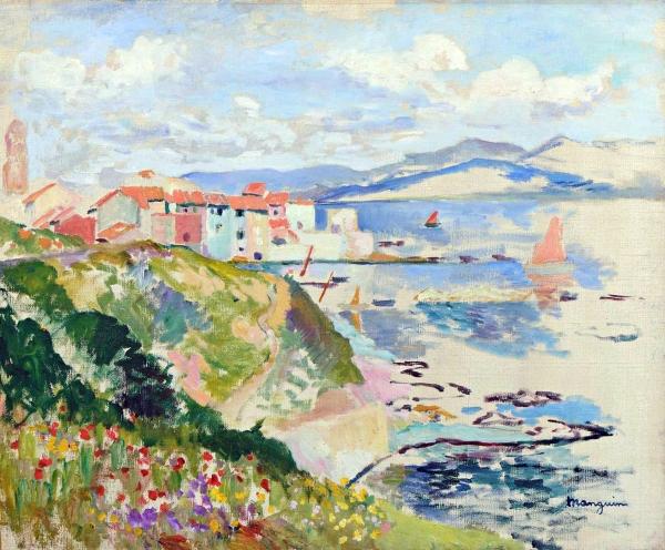 04 - Henr Manguin - Vue sur la Ponche SaintTropez