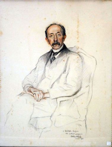 Albert Cels - Crayon portrait d'Adolphe Crespin