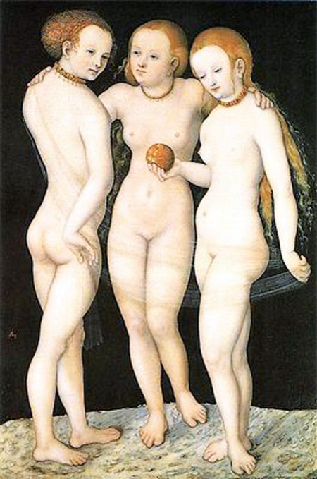 016 - Drie Gratiën – Lucas Cranach de Oude 1531 Louvre