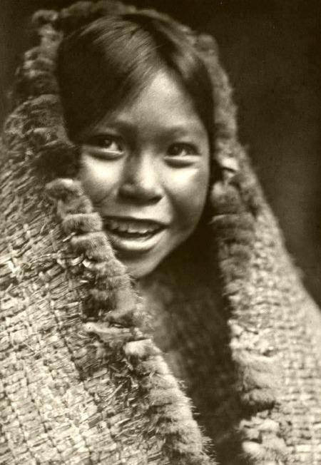 22 - tla-o-qui-aht girl in 1916 by edward curtis
