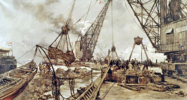 afsluitdijk tekening