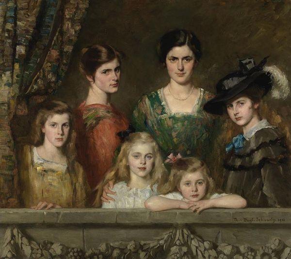 De_zes_dochter_van_Boissevain_door_Thérèse_Schwartze_(1916)