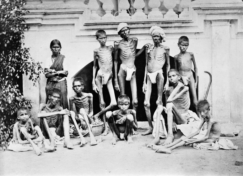 M0014873 Famine, 1876-78, Bangalore Credit: Wellcome Library, London. Wellcome Images images@wellcome.ac.uk http://wellcomeimages.org Famine stricken people during the famine of 1876-78 in Bangalore. Published: - Copyrighted work available under Creative Commons Attribution only licence CC BY 4.0 http://creativecommons.org/licenses/by/4.0/