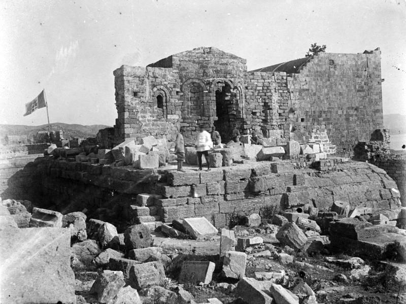 Rhodos Lindos acropolis 1912