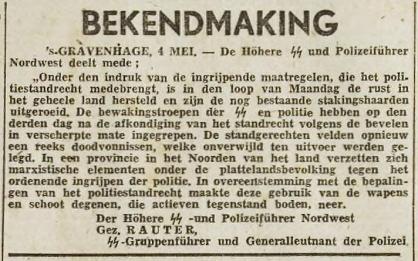 Amersfoortsche Courant 4 mei 1943 pagina 1